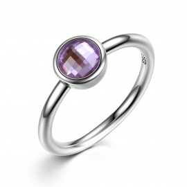 ANILLO PIEDRA COLOR MORADO LITTLE MODELO 185-7