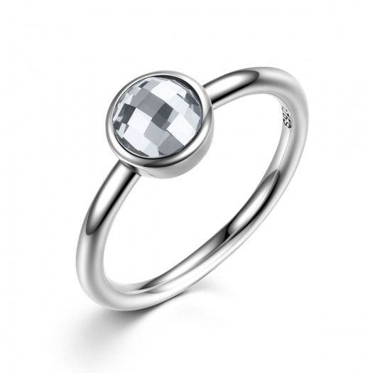 ANILLO PIEDRA COLOR GRIS LITTLE MODELO 186-7
