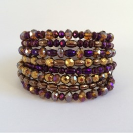 PULSERA MÚLTIPLE 45/2000 METALLIC PURPLE