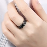 ANILLO BLACK DOBLE RODIO NEGRO 621