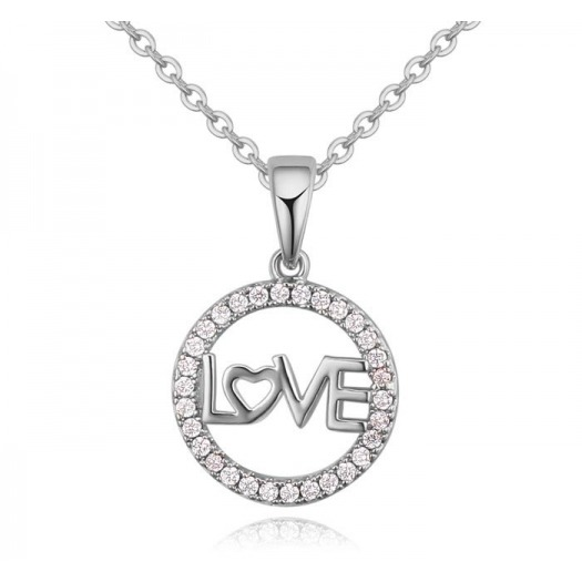 COLGANTE MINI LOVE PLATA 279