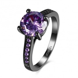 ANILLO BLACK SOLITARIO MORADO