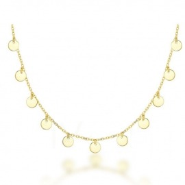 COLLAR CHOCKER 9 MINI PLAQUITAS DORADO