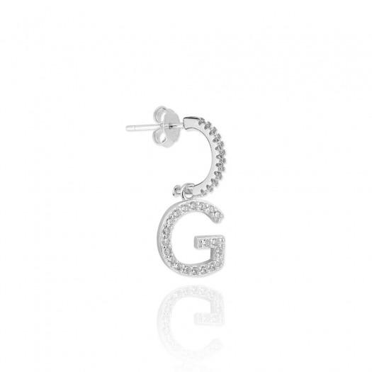 Pendientes aro con inicial letra g
