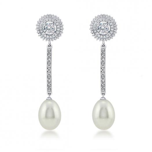 Pendientes novia perlas 224